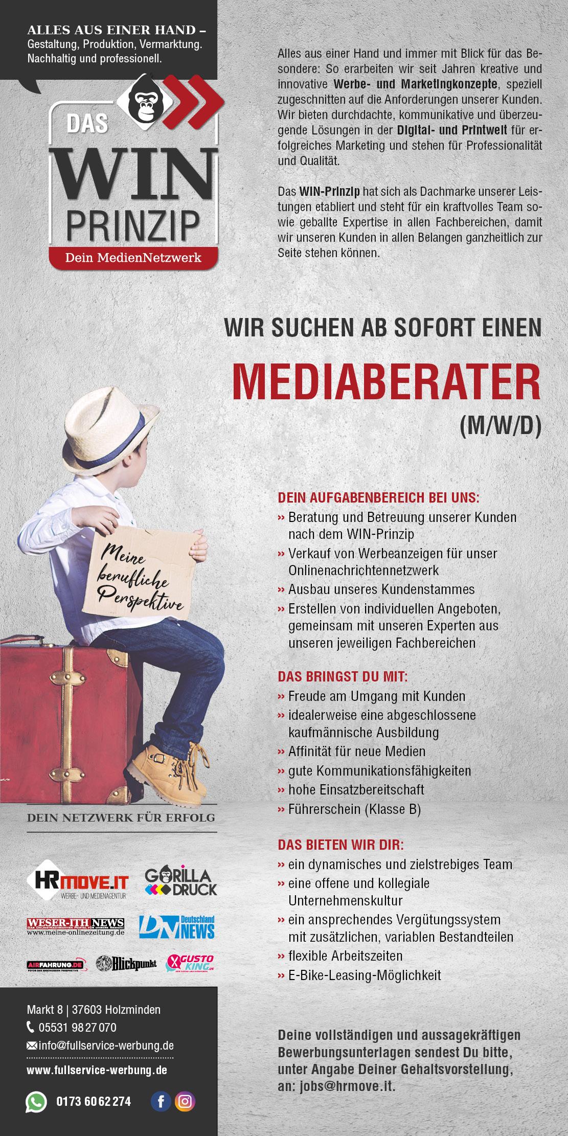 Mediaberater (m/w/d) - DAS WIN PRINZIP